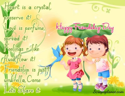 friendship day is the day for celebrate friendship this day originally ...